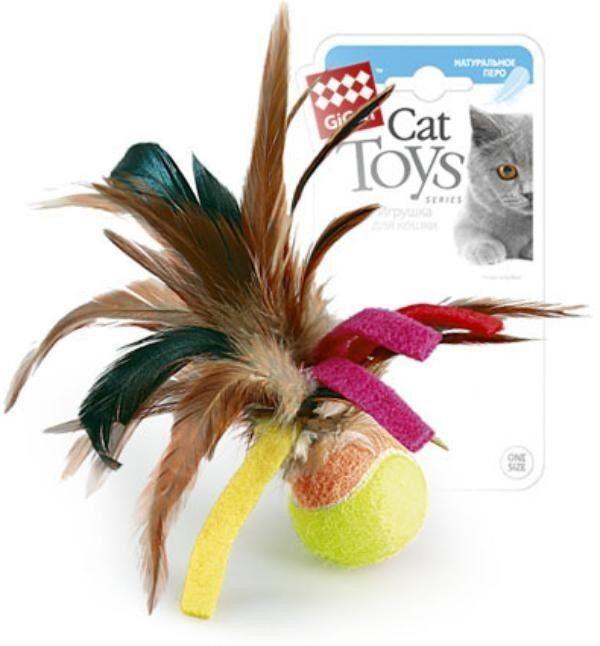 GiGwi Мячик с перьями - фото 1