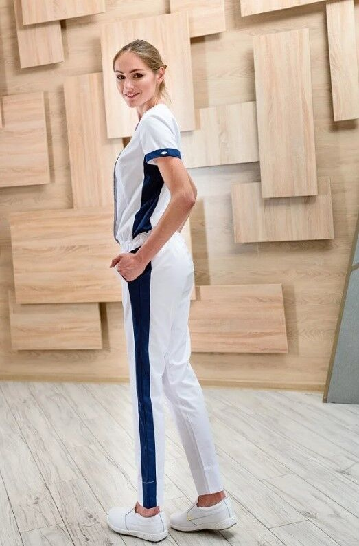 Доктор Стиль Комбинезон «Хельга» белый Брю 3404.29 - фото 3