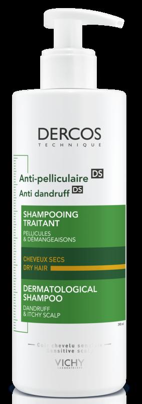 Vichy Шампунь Dercos против перхоти для сухих волос, 390 мл - фото 1