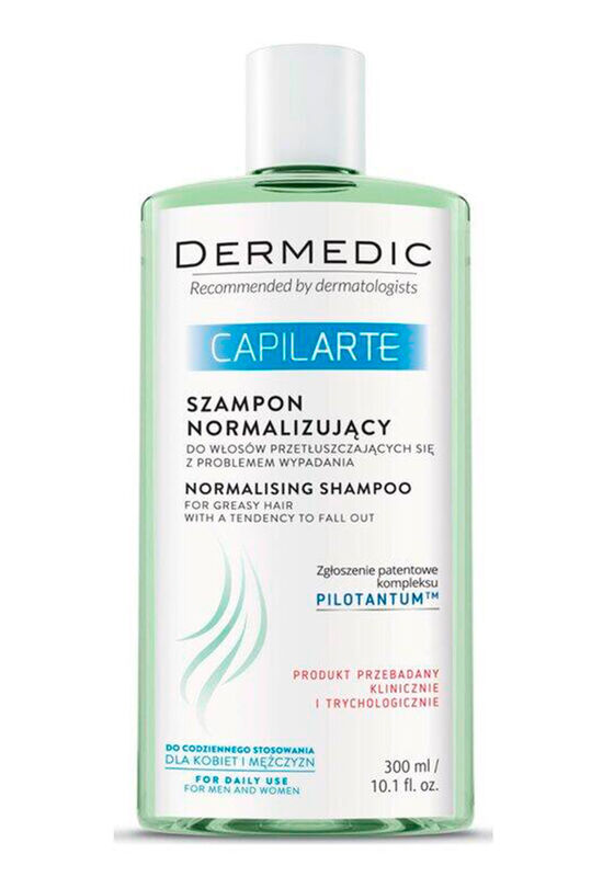Dermedic Шампунь нормализующий для жирных волос с проблемой выпадения CAPILARTE 300мл - фото 1