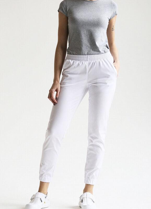 Доктор Стиль Медицинские брюки женские «Релакс» белые Брю 3403.01 - фото 1