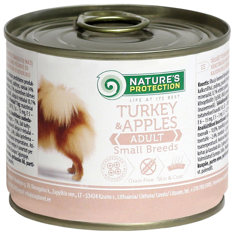 Natures Protection Adult Small Breeds Turkey & Apples 200 гр. - фото 1