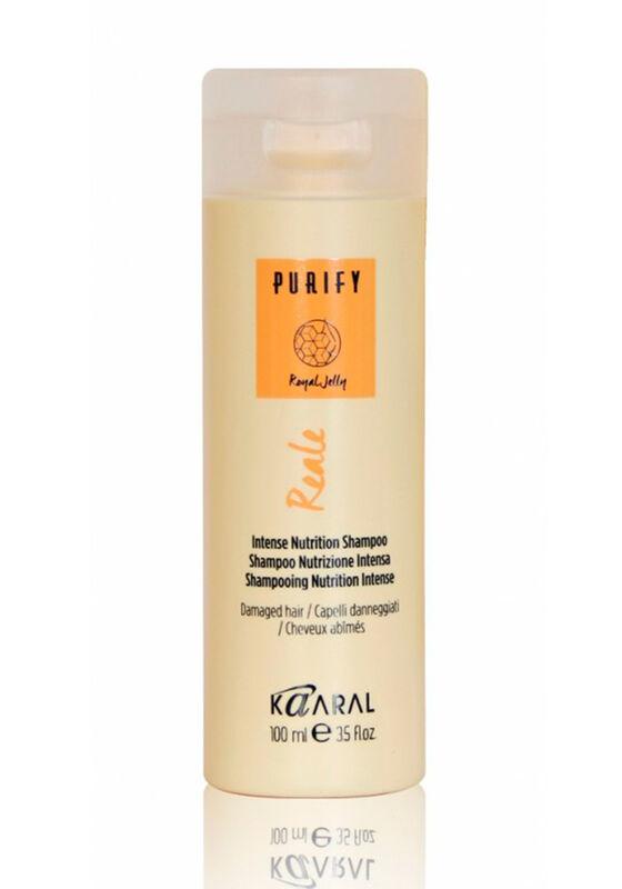 Kaaral Шампунь для поврежденных волос PURIFY REALE / Intense nutrition shampoo восстанавливающий 100 мл - фото 1