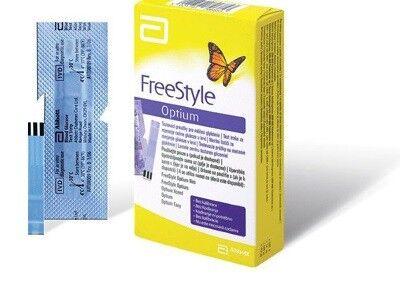 Глюкометр Abbott Diabetes Care Ltd. Тест-полоски FreeStyle Optium 100 шт. - фото 1