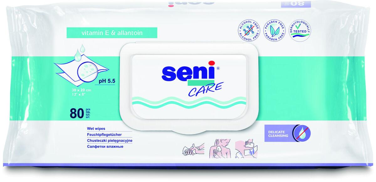Seni Влажные салфетки с витамином E, 80 шт - фото 1