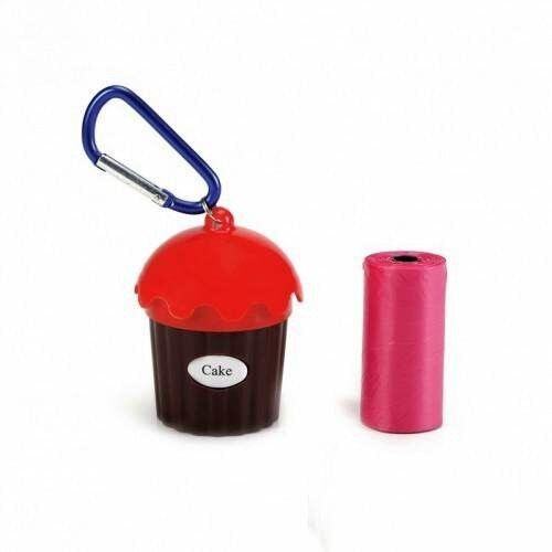 Beeztees Диспенсер для гигиенических пакетов красный 5x8 см - фото 1