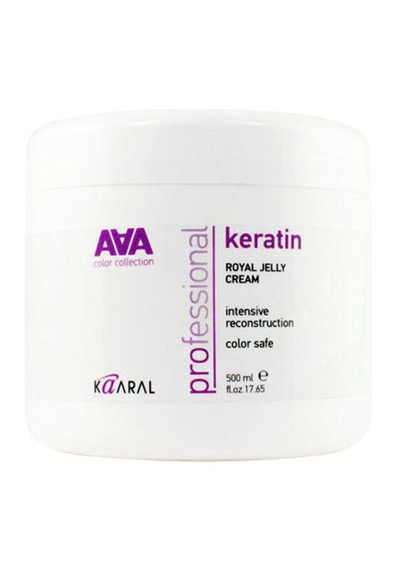 Kaaral Питательная крем-маска Keratin Royal Jelly Cream AAA для восстановления окрашенных и химически обработанных волос 500 мл - фото 1