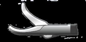Медицинское оборудование ППП Ножницы изогнутые по ребру однобраншевые  Л-0050 - фото 1