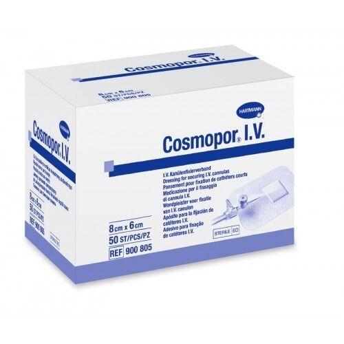 Hartmann Повязка пластырного типа для фиксации катетеров стерильная COSMOPOR, размер 8x6 см (50 шт.) - фото 1