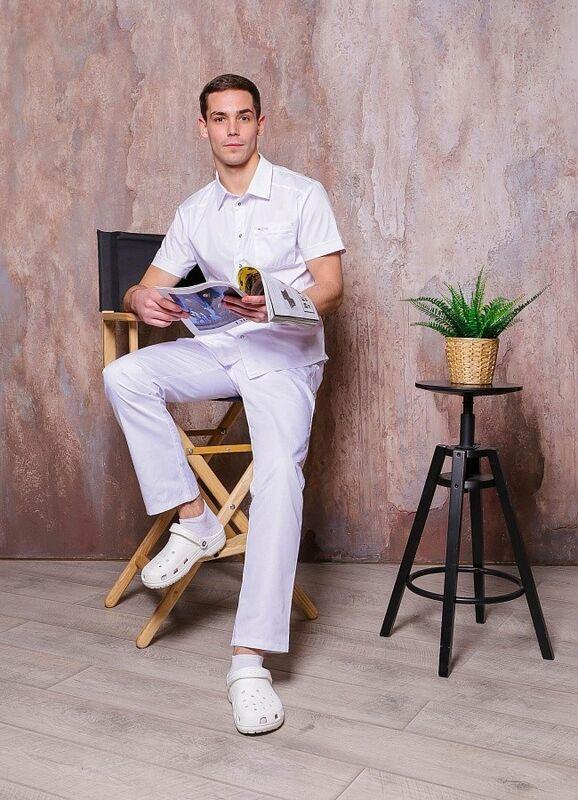 Доктор Стиль Медицинская блуза «Терапи» белая ЛС 3217.01 - фото 3
