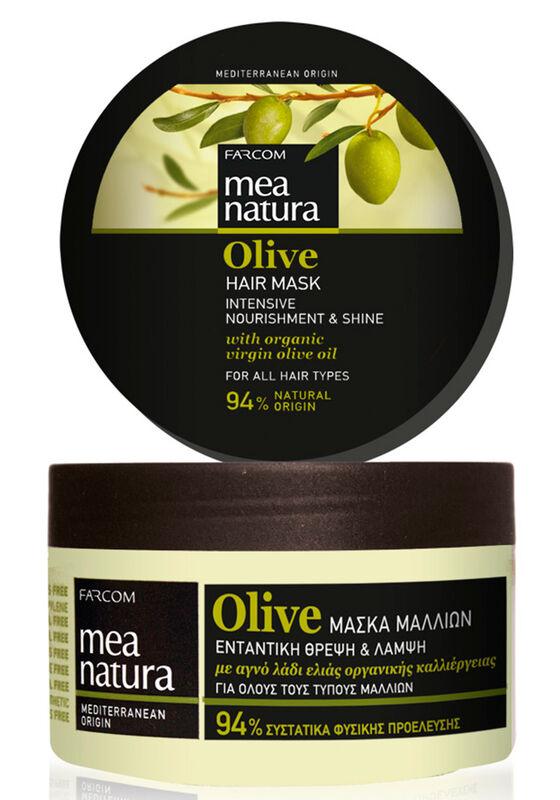 Farcom Маска Mea Natura Olive с оливковым маслом питательная для всех типов волос 250 мл - фото 1
