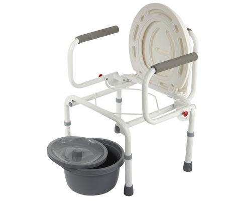 Санитарное приспособление Valentine I. LTD Кресло-туалет с откидными подлокотниками WC Delux - фото 3