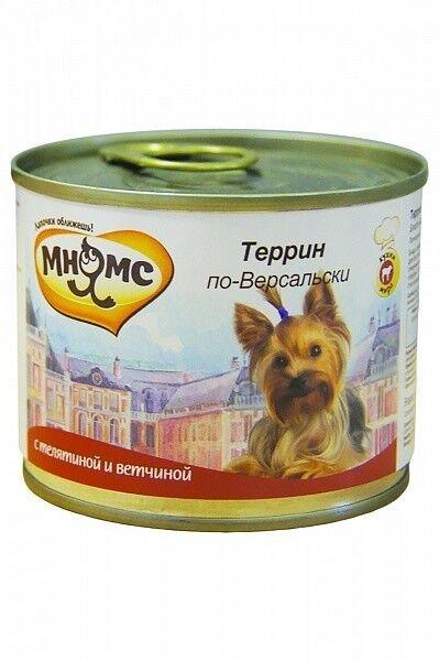Мнямс Консервы для собак Террин по-версальски 200 гр.х 6 шт. - фото 1