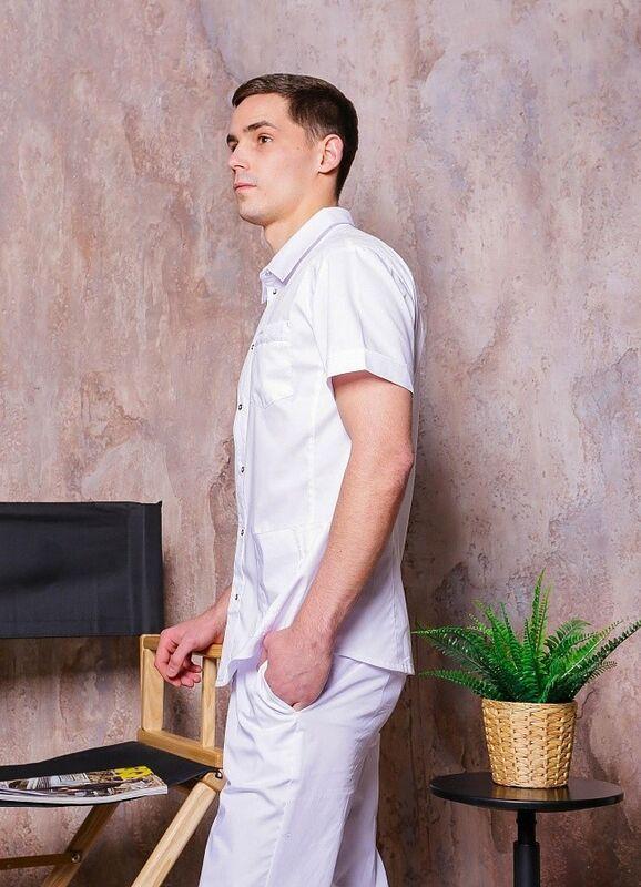 Доктор Стиль Медицинская блуза «Терапи» белая ЛС 3217.01 - фото 5