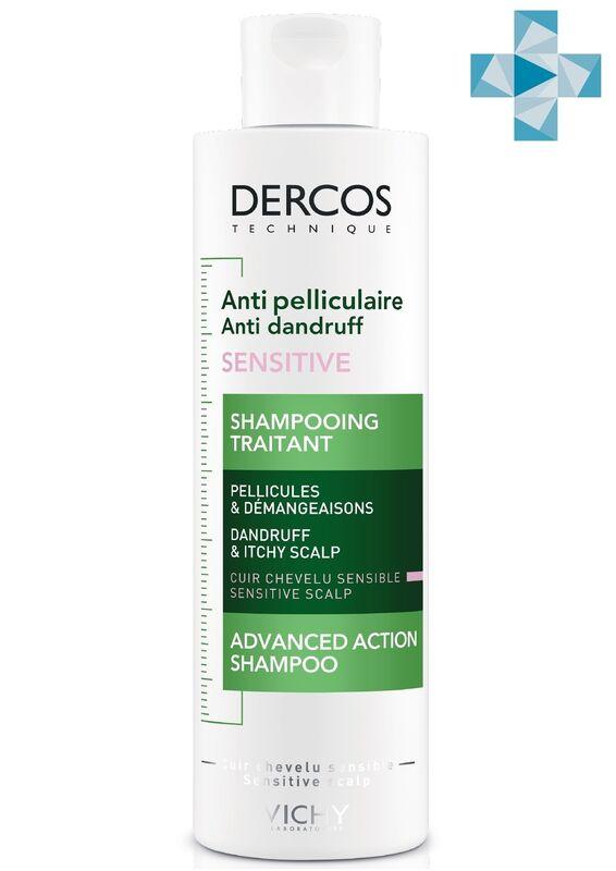 Vichy Интенсивный шампунь-уход DERCOS против перхоти для чувствительной кожи головы, 200 мл - фото 1