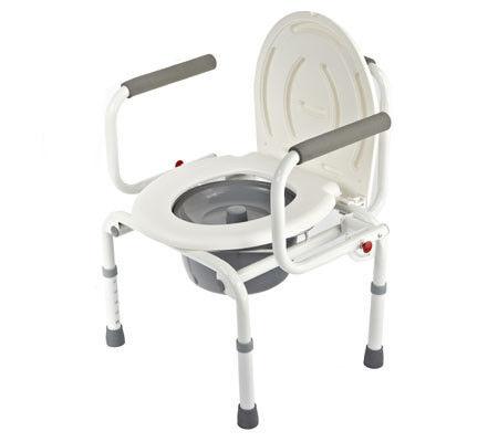 Санитарное приспособление Valentine I. LTD Кресло-туалет с откидными подлокотниками WC Delux - фото 1