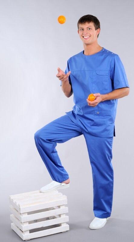 Доктор Стиль Блуза медицинская мужская Озон (лл2214) - фото 1