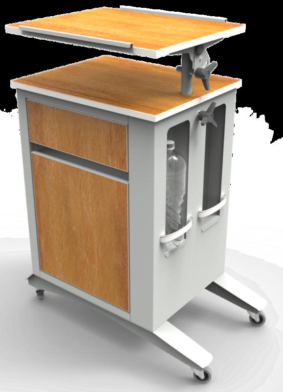 Айболит-2000 Тумба медицинская прикроватная ТМП-02.6 (обновленная версия модели) - фото 2