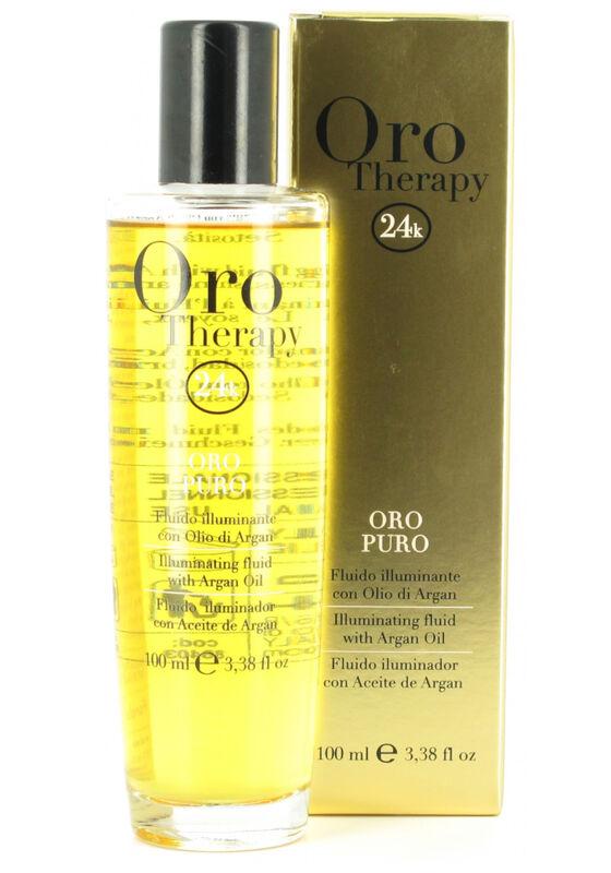 Fanola Сыворотка для волос Oro Therapy 24k Oro Puro с аргановым маслом и микрочастицами золота 100 мл - фото 1