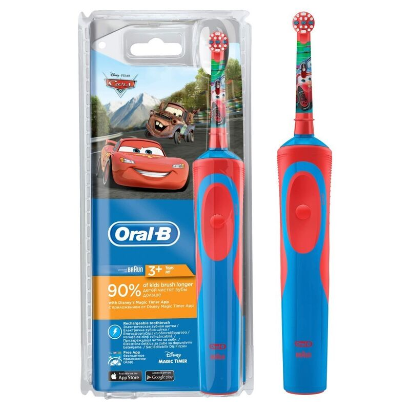 Oral-B Детская электрическая зубная щетка Vitality Kids Cars (D12.513.K) - фото 1