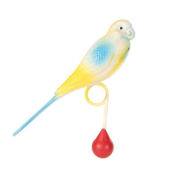 Beeztees Игрушка для птиц «Попугай пластмассовый на кольце» - фото 1