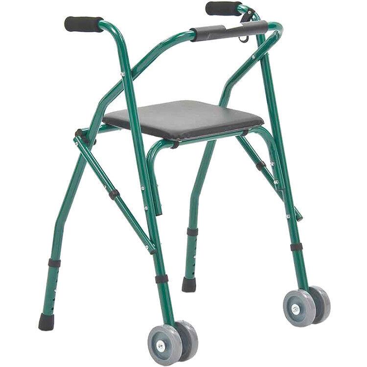 Прокат медицинских товаров Мега-Оптим Ходунки регулируемые на колесах с сиденьем для отдыха FS914L - фото 1