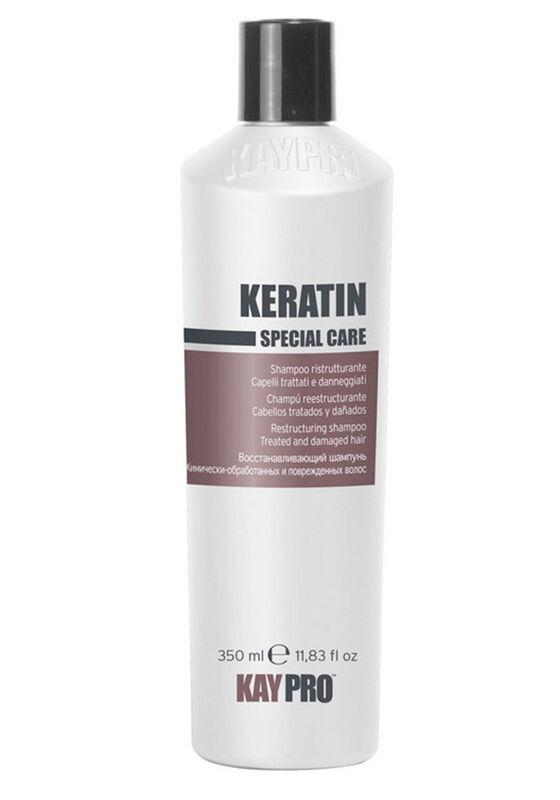KayPro Шампунь CPECIAL CARE KERATIN восстанавливающий с кератином для химически-обработанных и поврежденных волос 350мл - фото 1