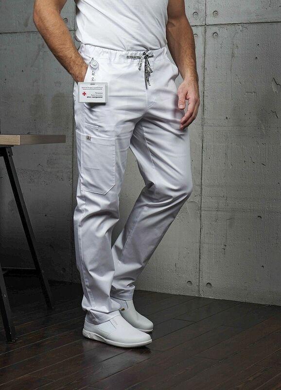Доктор Стиль Медицинские брюки «Софт М» белые Брю 3410.01 - фото 2