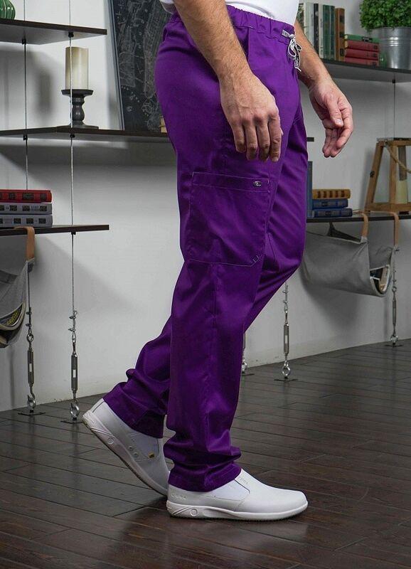 Доктор Стиль Медицинские брюки «Софт М» фиолетовые Брю 3410.15 - фото 3