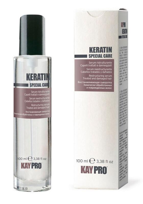 KayPro Сыворотка SPECIAL CARE KERATIN восстанавливающая с кератином для химически обработанных и поврежденных волос 100 мл - фото 1
