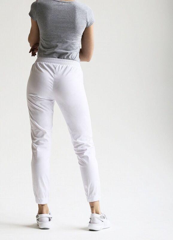 Доктор Стиль Медицинские брюки женские «Релакс» белые Брю 3403.01 - фото 5