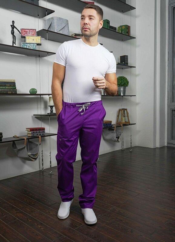 Доктор Стиль Медицинские брюки «Софт М» фиолетовые Брю 3410.15 - фото 1