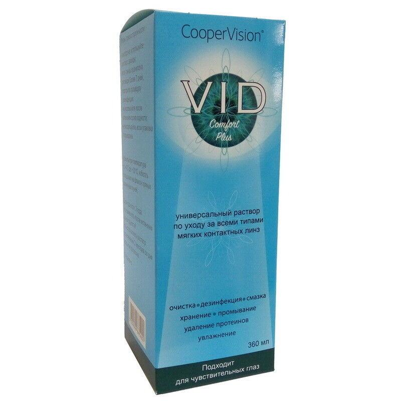 Средство по уходу и аксессуар для линз Cooper Vision Раствор Vid Comfort Plus 360 мл - фото 1