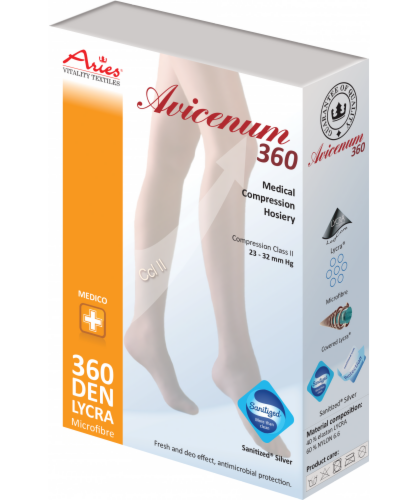Aries Чулки с резинкой и закрытым носком A 360 AG San hem - фото 1