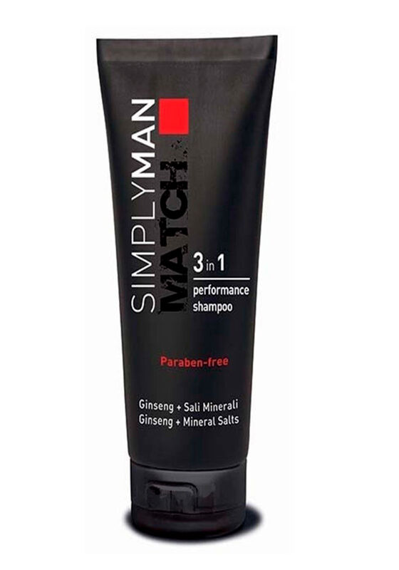 Nouvelle Шампунь увлажняющий для волос SIMPLY MAN MATCH 3 in 1 PERFORMANCE SHAMPOO 200 мл - фото 1