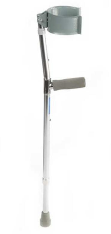 Прокат медицинских товаров Мега-Оптим Подлокотные костыли с закрытой регулируемой манжетой LK3030 - фото 1