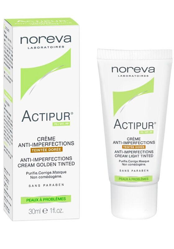 Noreva Крем Актипур тонирующий для проблемной кожи, золотистый оттенок 30 мл - фото 1