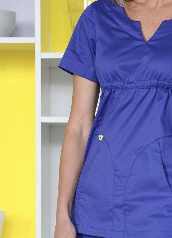 Доктор Стиль Медицинская блуза «Колибри» василек ЛЛ 2232.05 - фото 4