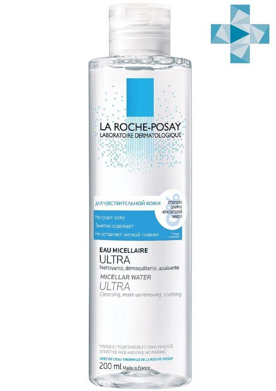 La-Roche-Posay ULTRA SENSITIVE Мицеллярная вода для чувствительной кожи глаз и лица, 200 мл - фото 1