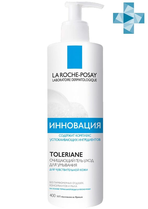 La-Roche-Posay TOLERIANE Caring Wash Очищающий крем-гель для умывания, 400 мл - фото 1