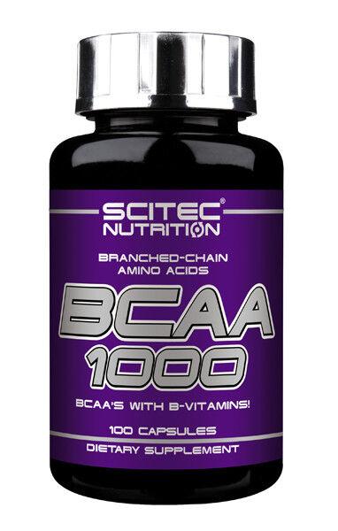 Scitec Nutrition Аминокислоты БЦА BCAA 1000, 100 капсул - фото 1