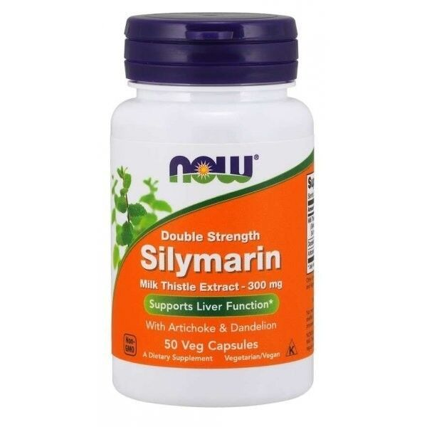 NOW Silymarin 300 mg 50 vcaps - фото 1