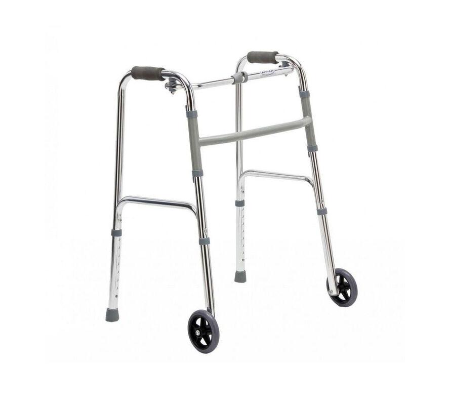 Прокат медицинских товаров ИП Копач Складные алюминиевые ходунки с регулировкой по высоте - фото 1