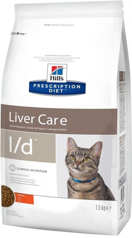 Hill's PD Feline l/d Liver Care 1,5 кг - фото 2
