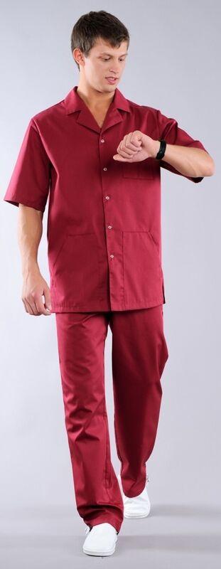 Доктор Стиль Блуза медицинская мужская Скай (лл2212) - фото 2
