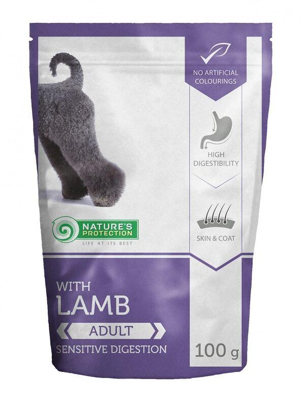 Natures Protection Lamb для чувствительного пищеварения 100гр. - фото 1
