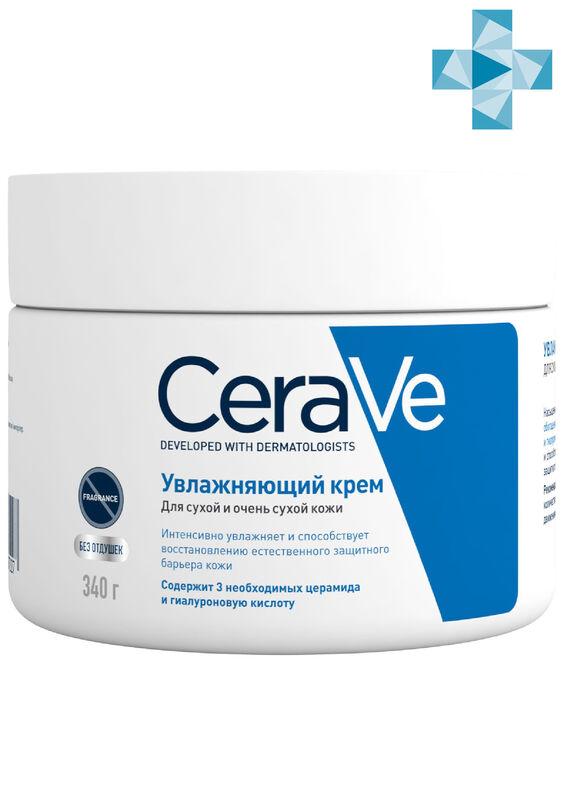 CeraVe Увлажняющий крем для сухой и очень сухой кожи лица и тела, 340 мл - фото 1