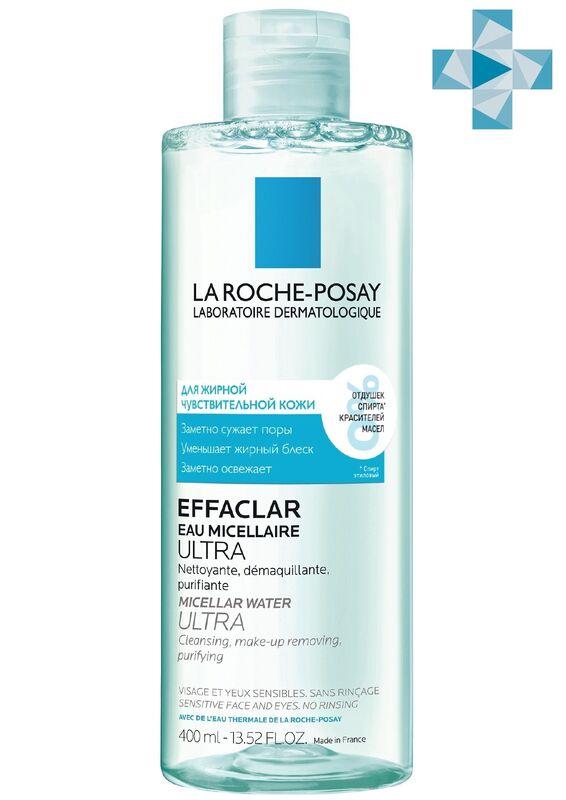 La-Roche-Posay EFFACLAR Ultra мицеллярная вода для жирной и проблемной кожи, 400 мл - фото 1
