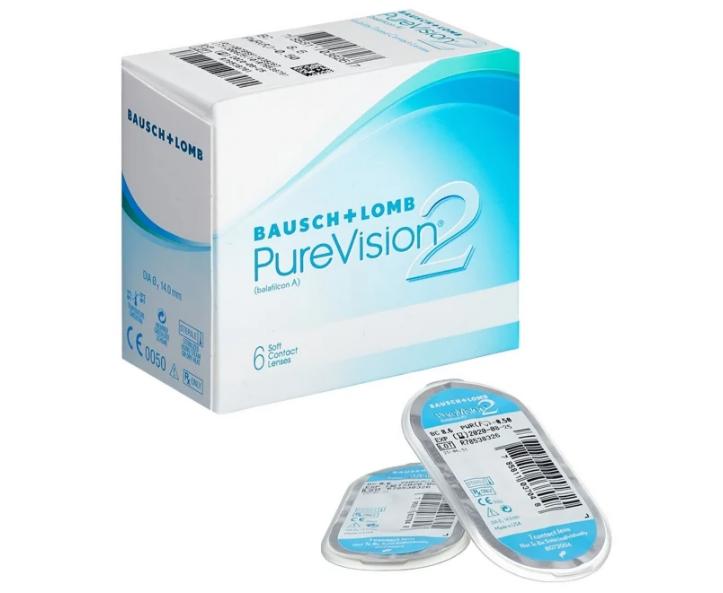 Контактные линзы Bausch+Lomb PureVision 2 HD (6 линз) - фото 1