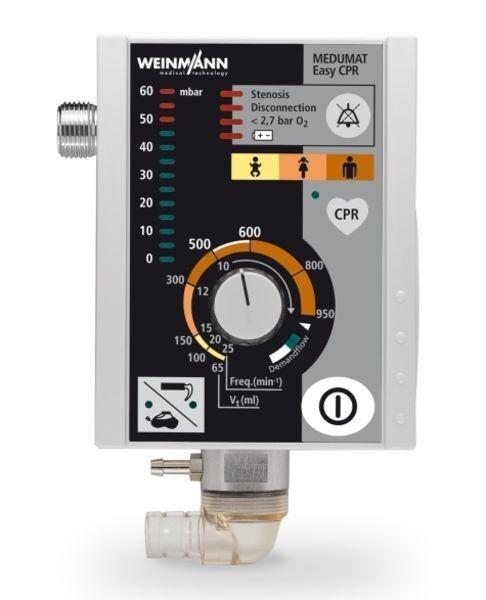 Медицинское оборудование Weinmann Простейший в управлении аппарат ИВЛ с режимом СЛР и голосовыми подсказками Medumat Easy CPR - фото 1